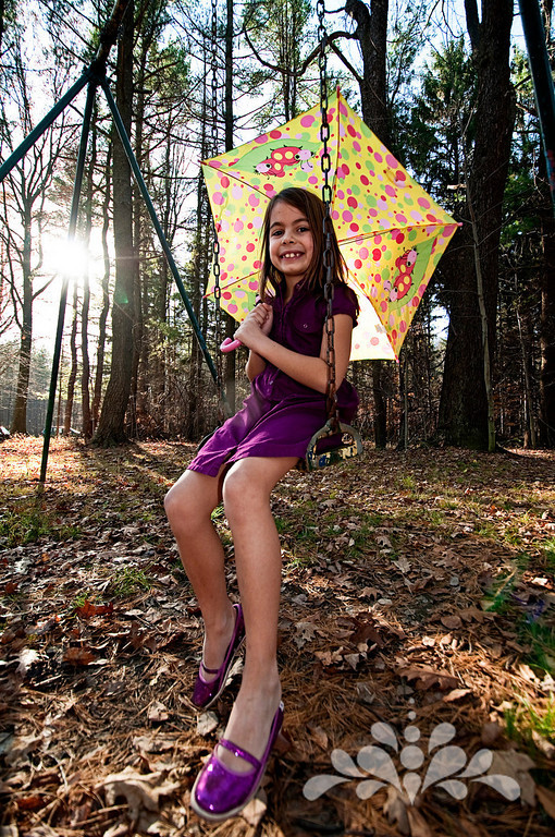 Morgan and umbrella