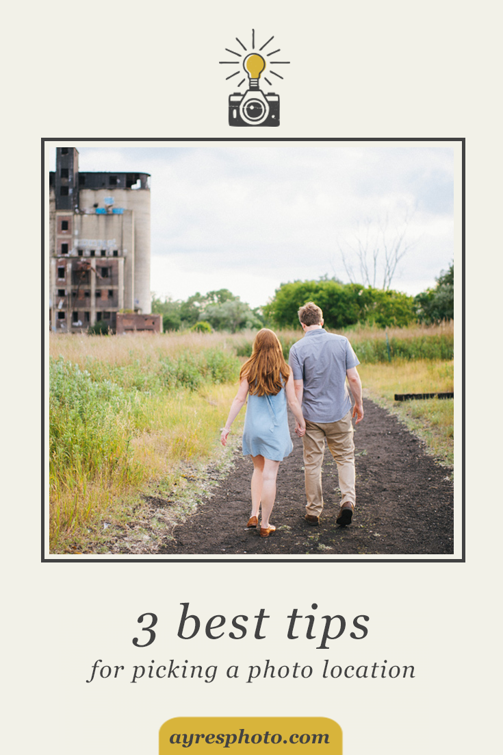 3 best tips for choosing a photo location // krista + adam – red jacket river front park