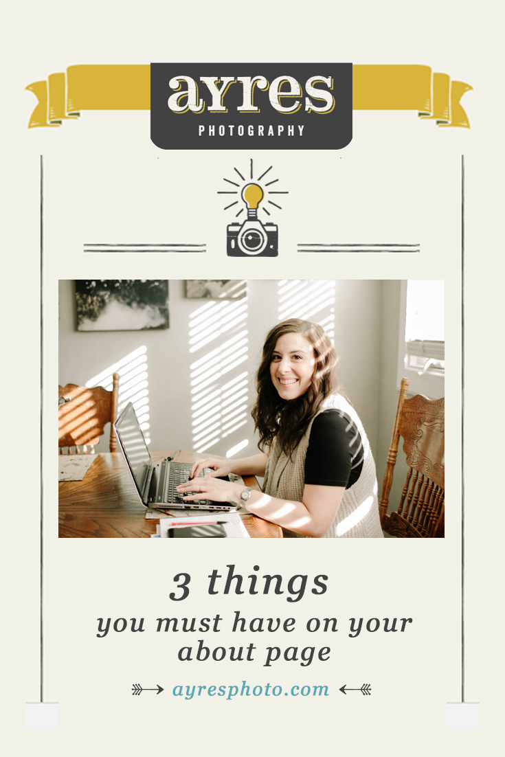 3 things you must have on your about page