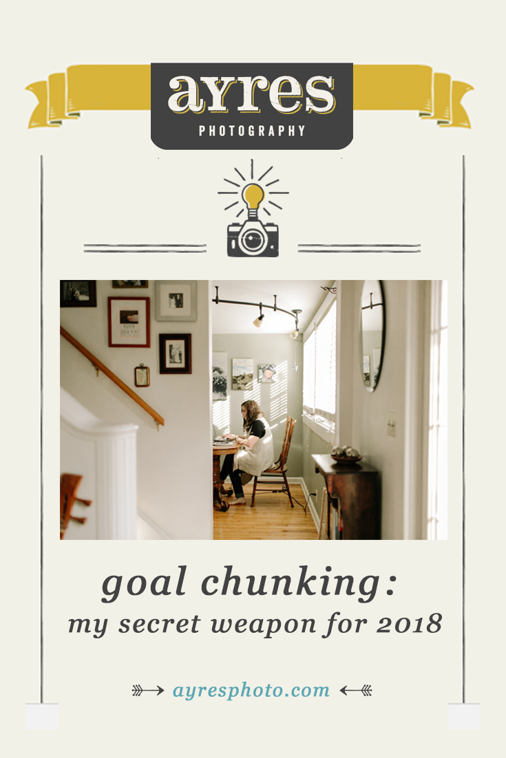 goal chunking: my secret weapon for 2018