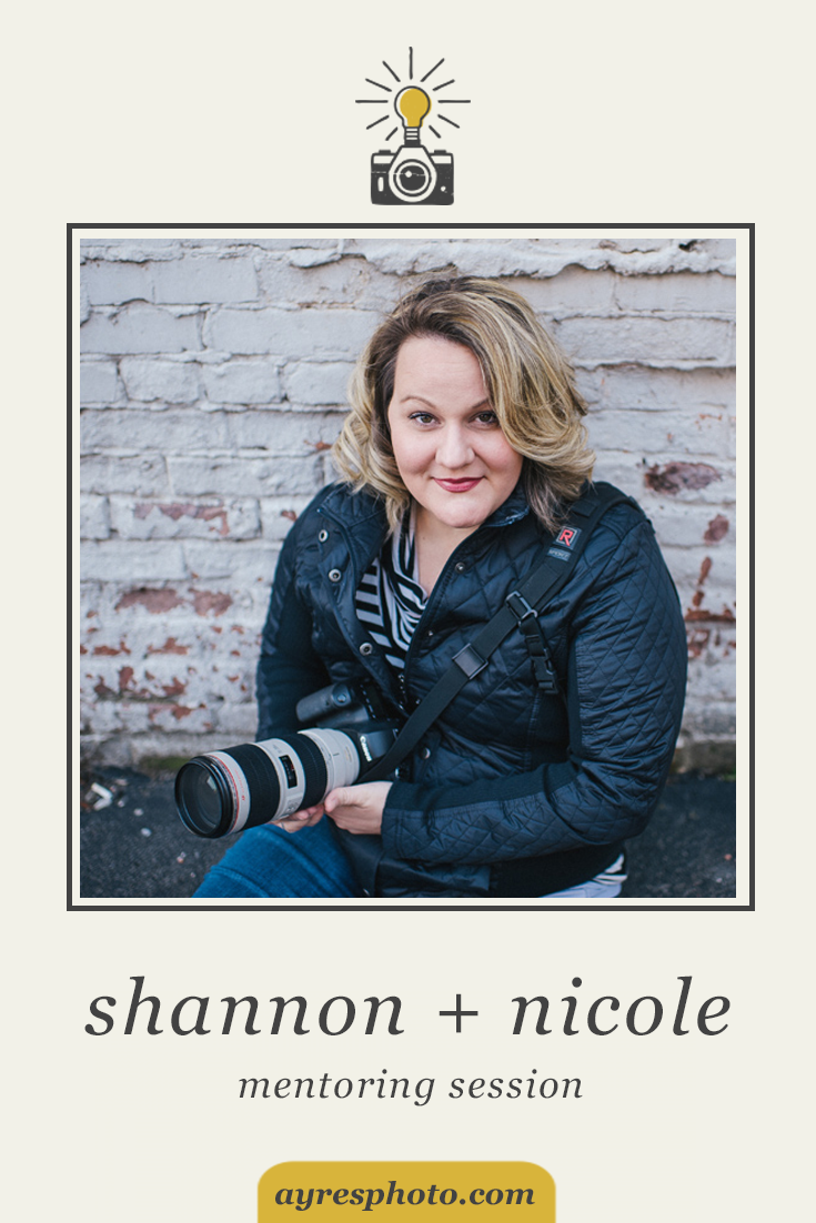 the mentoring sessions // 2016 – shannon + nicole