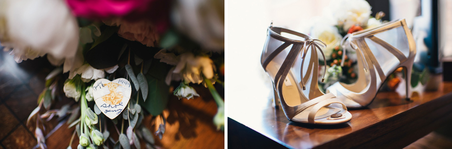 bridal shoes and lucky penny