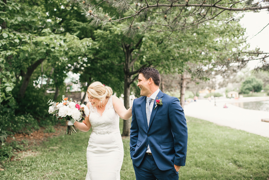 groom turning around to see bride during first look