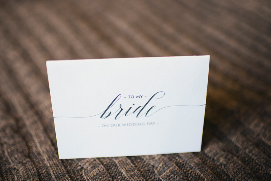 wedding day card from groom to bride