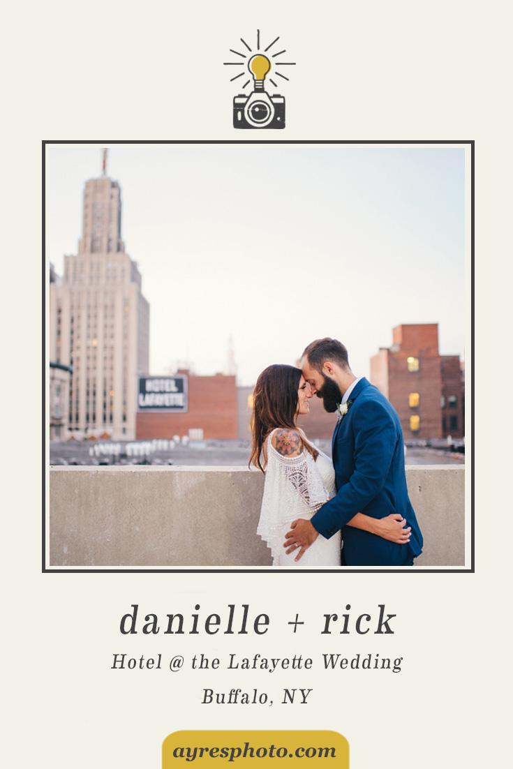 danielle + rick // Hotel @ the Lafayette Wedding
