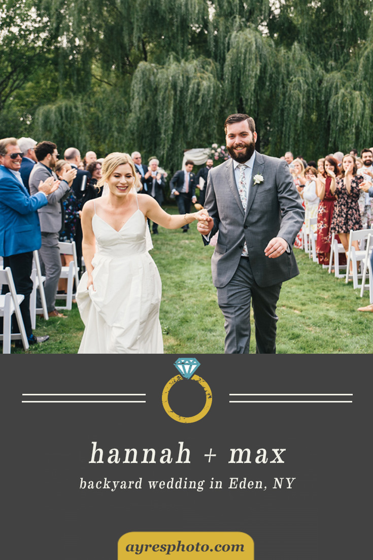 hannah + max // Private Residence Backyard Wedding